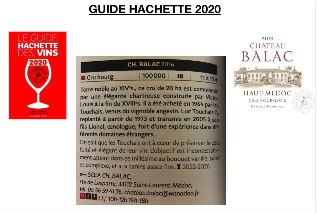 GUIDE HACHETTE DES VINS 2020 CRU BOURGEOIS HAUT MEDOC